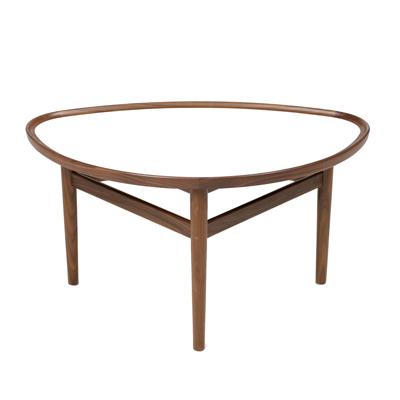 Eye Table 咖啡桌(胡桃木 / 白桌面)