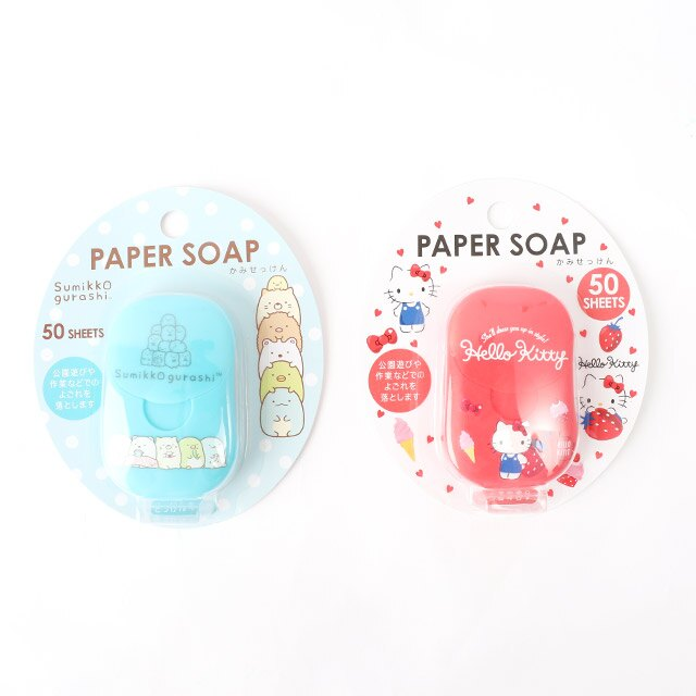 日貨Paper Soap紙香皂- Norns 角落生物 Hello Kitty 50入肥皂片 日本進口正版授權