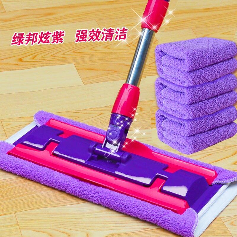 拖把 平板拖把夾毛巾實木地板拖布瓷磚地拖旋轉墩布拖地家用平拖  OB9350