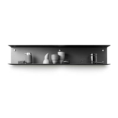 VIPP 壁掛雙層架(黑、100 cm)