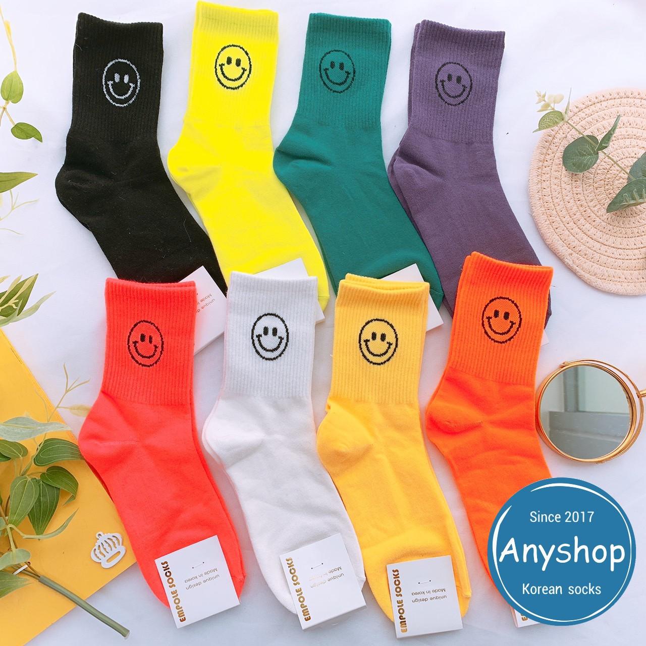 韓國襪-[Anyshop]笑臉螢光長襪