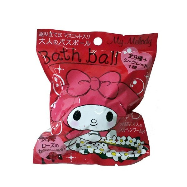 『日本帶回』正版 melody 美樂蒂 杯緣子 入浴球 沐浴球 泡泡球 泡澡球 入浴劑 洗澡玩具 三麗鷗家族