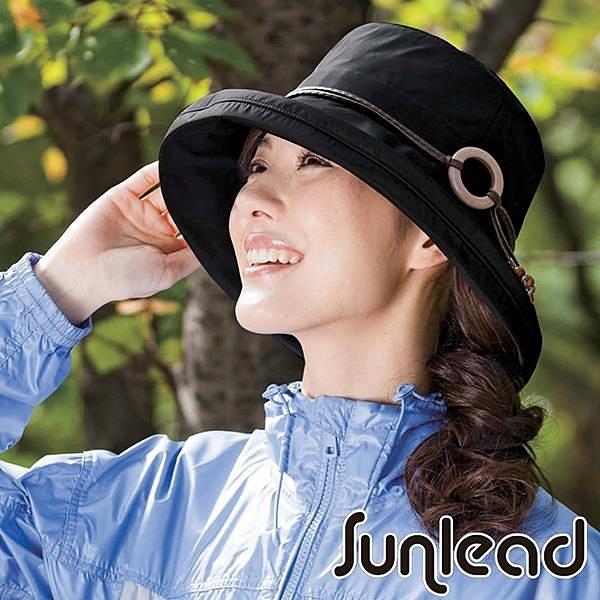 【南紡購物中心】Sunlead 晴雨兩用款。防潑水輕量感抗UV防曬寬緣遮陽軟帽 (黑色)