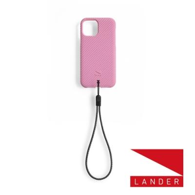 美國 Lander iPhone 12 Pro Max Vise 立體斜紋環保防摔殼 - 櫻花粉 (附手繩)