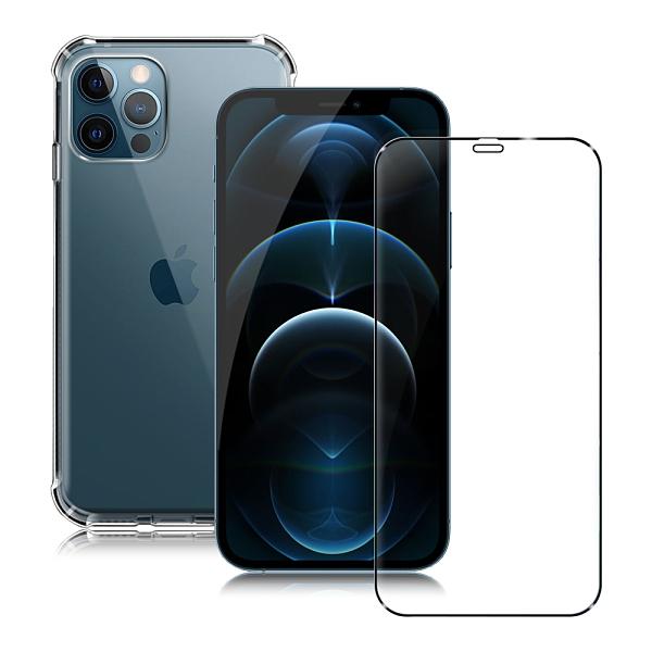 CITY for iPhone 12 / 12 Pro 6.1吋 軍規5D防摔手機殼+滿版玻璃組合