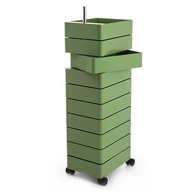 360 Container 滾輪十層置物櫃(軍綠)