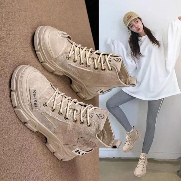 【快出】短靴馬丁靴女英倫風新款秋季女鞋子春秋單靴秋冬季潮ins短靴子