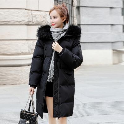 【韓國K.W.】(現貨) 韓流來襲防風防潑毛領連帽羽絨外套