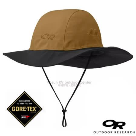 【美國 Outdoor Research】GTX Seattle Sombrero 熱賣 防水透氣防風牛仔大盤帽子_243505(82130)-1702 卡其/黑