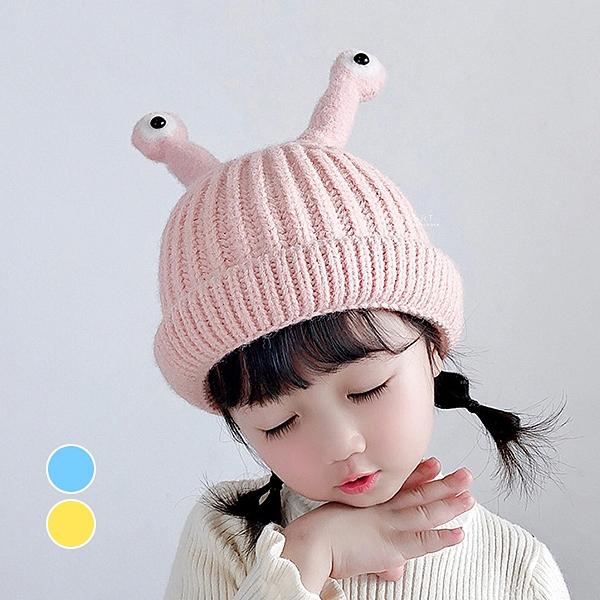 卡通大眼睛針織帽 童帽 帽子 保暖帽