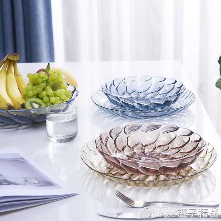 怡點 北歐客廳茶幾家用干果盤創意現代客廳塑料糖果裝水果的盤子 全館免運