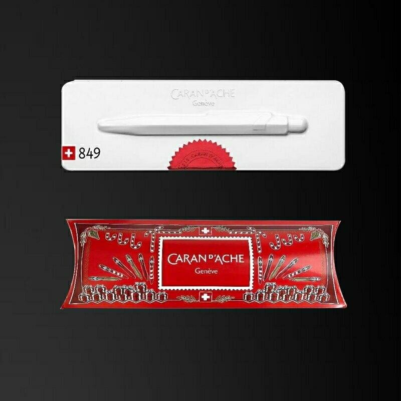瑞士卡達 Caran d'Ache 849 紅白原子筆(聖誕限定版)