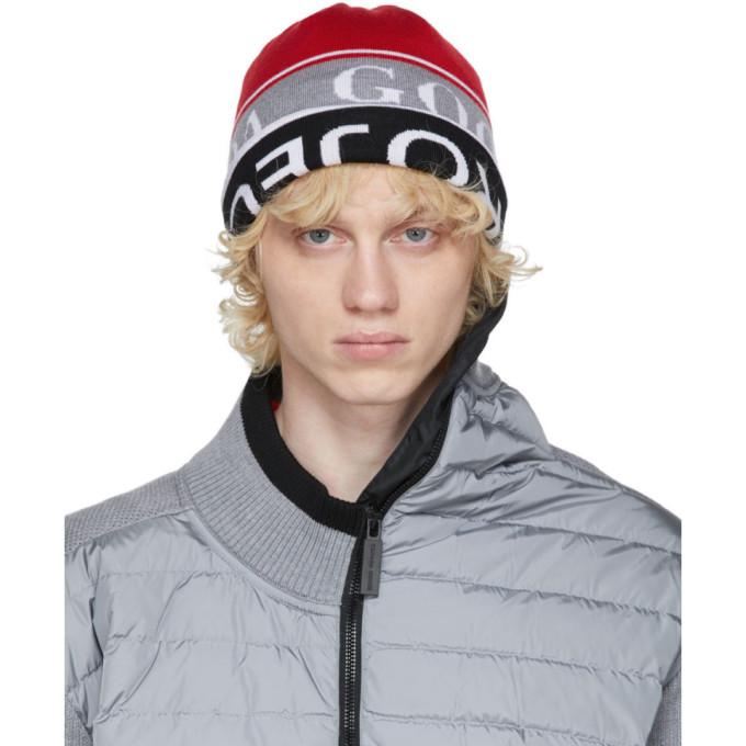 Y/Project 红色 and 黑色 Canada Goose 联名双面羊毛毛线帽