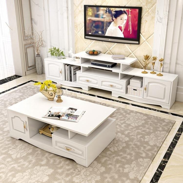 電視櫃電視桌 電視櫃茶几組合套裝現代簡約小戶型客廳簡易地櫃臥室歐式電視機櫃  凡客名品