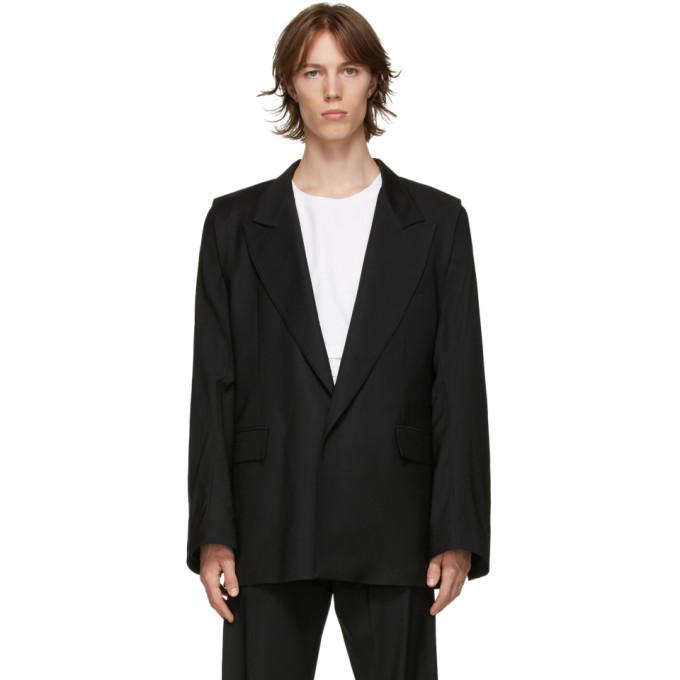 Bianca Saunders 黑色 Clive 羊毛西装外套