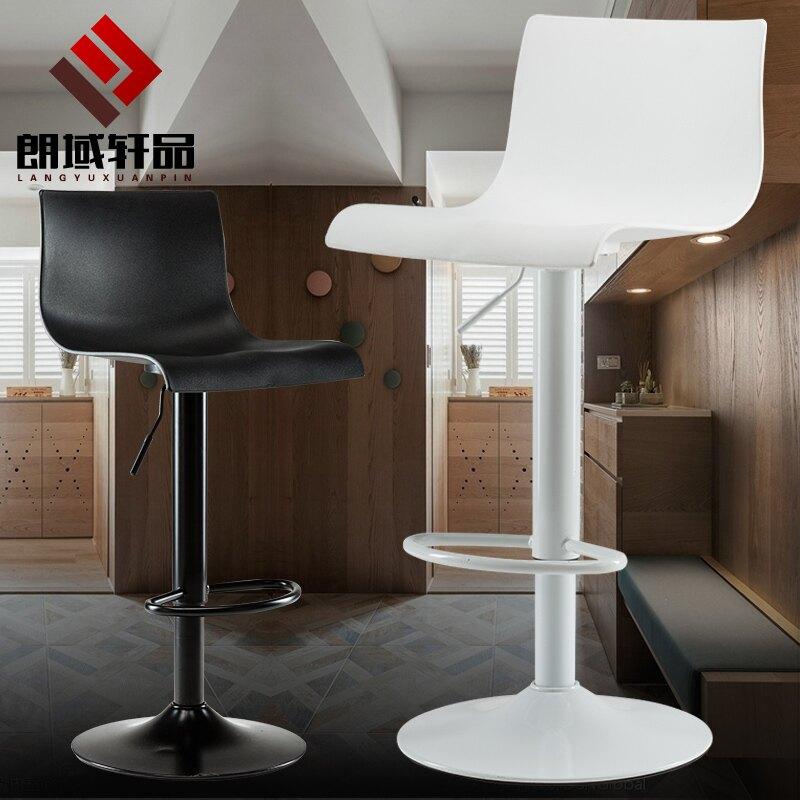 吧臺椅家用現代簡約高腳凳歐式吧凳酒吧椅靠背凳子升降椅子高凳子 小山好物