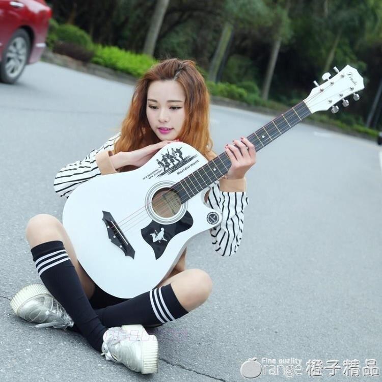 38寸初學者吉他入門新手吉他送豪華套餐 調音器男女吉他JITA 全館免運