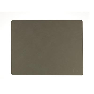 NUPO 皮革餐墊(方形、軍綠)