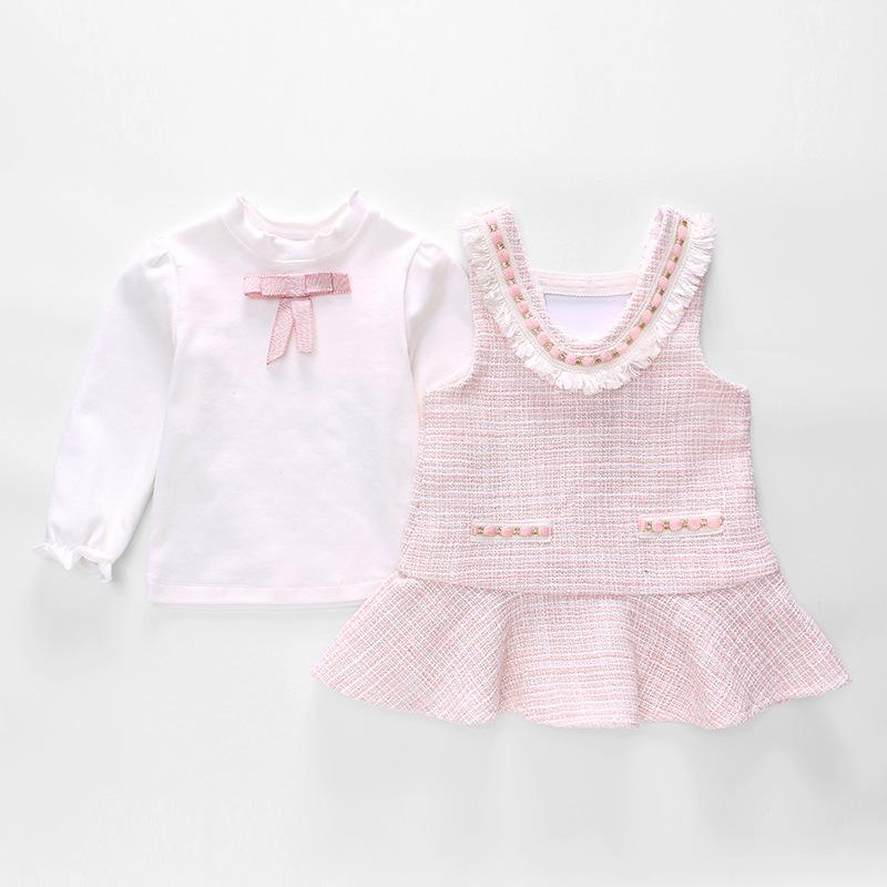 Vlinder童裝女寶寶小香風公主連衣裙