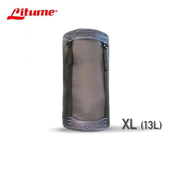 丹大戶外【Litume】意都美 睡袋壓縮袋 黑色 XL E638-63 睡袋│寢具│露營│收納袋