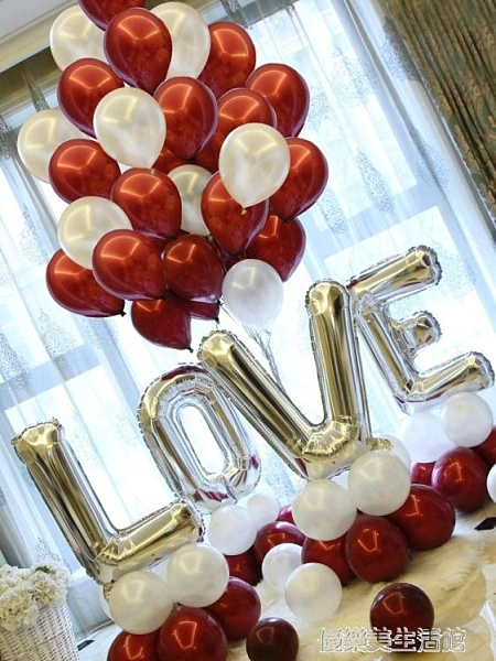 網紅婚房字母氣球結婚臥室生日求婚錶白裝飾婚禮派對布置婚慶用品 【優樂美】