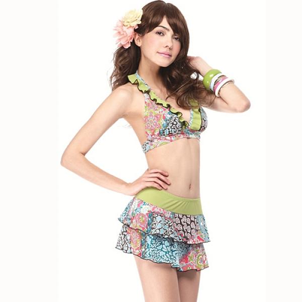 【南紡購物中心】【SAIN SOU】大女比基尼三件式泳裝附泳帽A93426