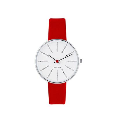 AJ Bankers 腕錶(34 mm、紅)