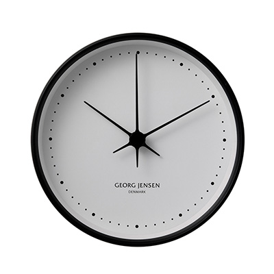 HK 典藏掛鐘(極簡黑、大、22 cm)