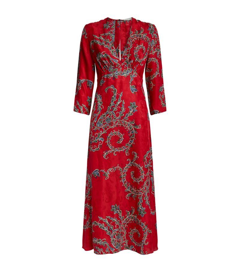Sandro Paris Long Print Dress