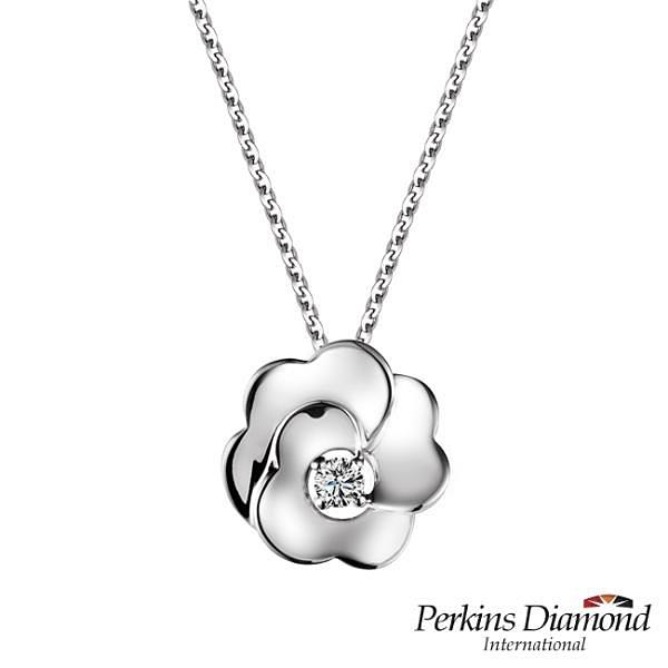 【南紡購物中心】PERKINS 伯金仕 Rose系列 鑽石項鍊