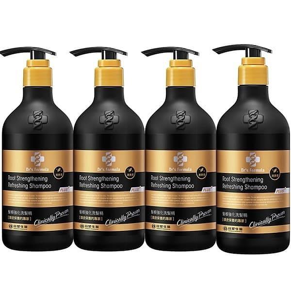 【南紡購物中心】《台塑生醫》Dr's Formula髮根強化洗髮精-清爽感(升級版)580g*4瓶
