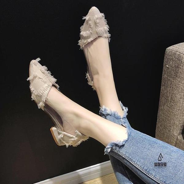 尖頭單鞋女平底百搭溫柔鞋【愛物及屋】