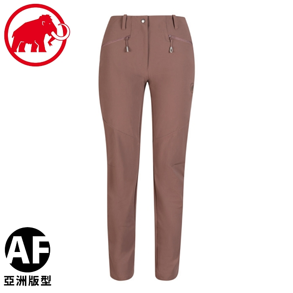 【MAMMUT 長毛象 女 Trekkers 2.0 Pants AF長褲《深摩爾褐》】1021-00420/休閒長褲