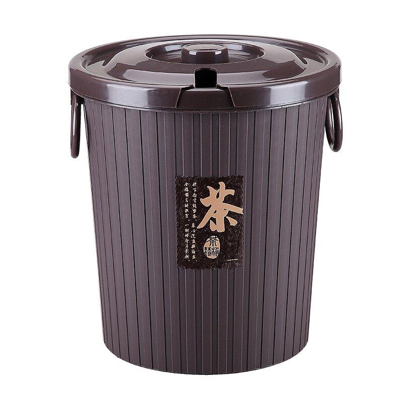 加厚帶蓋帶濾層圓形茶水桶 多規格 PP材質不發霉不生鏽 茶葉過濾桶茶桶茶渣桶排水桶垃圾桶【AH0102】《約翰家庭百貨