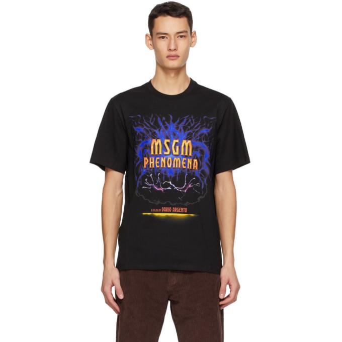 "MSGM 黑色 Dario Argento 联名""Phenomena"" T 恤"