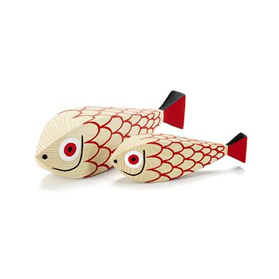 Wooden Doll 手繪常民藝術木偶 母子魚