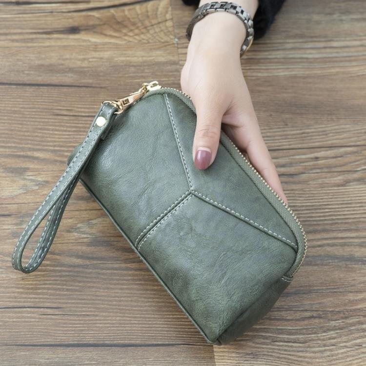 手拿包 2020新款日韓長款女士女包簡約百搭手拿包簡約零錢手抓包手機包