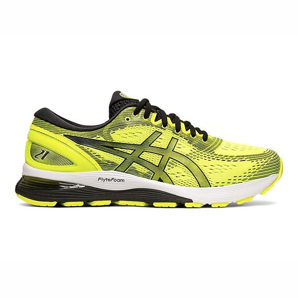 Asics GEL-Nimbus 21 [1011A169-750] 男鞋 運動 休閒 慢跑 吸震 緩衝 亞瑟士 螢黃