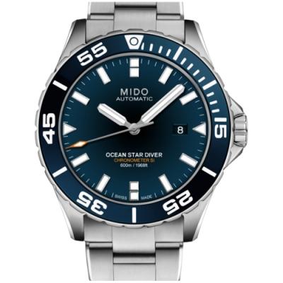 MIDO 美度Ocean Star系列海洋之星600米潛水款(M0266081104100)x藍面x43.5mm