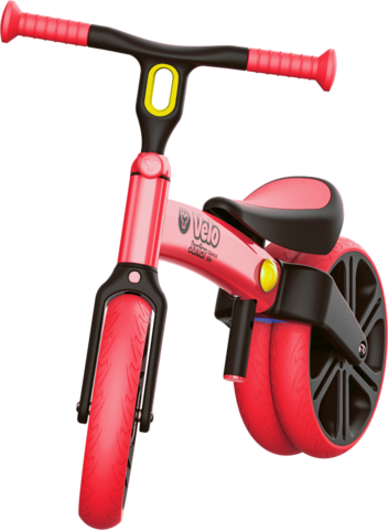 Y-Volution VELO Junior可變單雙輪模式平衡滑步車/學步車 紅