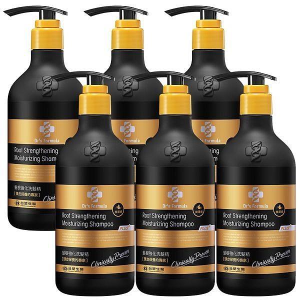【南紡購物中心】《台塑生醫》Dr's Formula髮根強化洗髮精-潤澤感(升級版)580g*6瓶