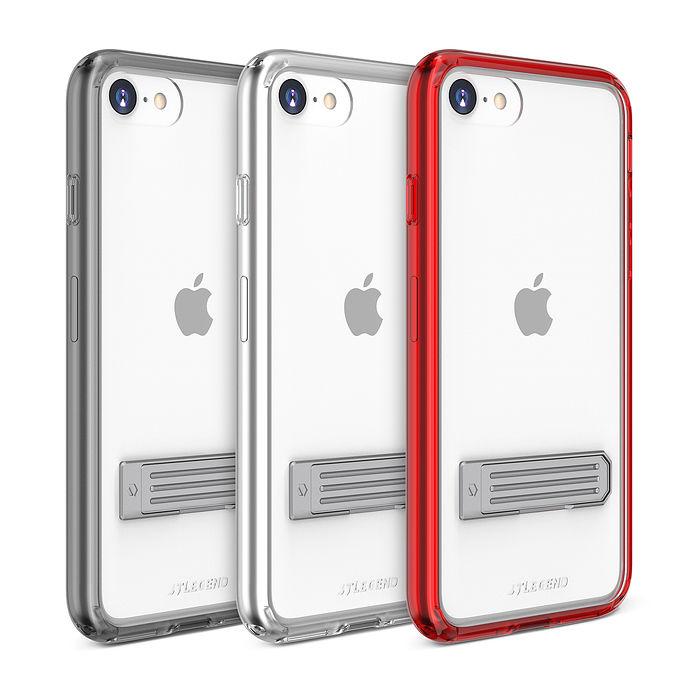 JTL / JTLEGEND iPhone SE 2020/8/7  立架式雙料減震保護殼透明