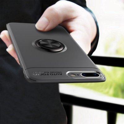 蘋果iPhone 6 6S 7 8 Plus手機殼 矽膠軟殼 i6 i7 i8 i6p i7p 磁吸車載支架指環扣保護殼