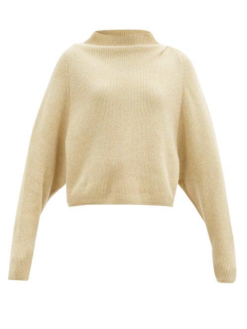 Petar Petrov - Karoll High-neck Ribbed-cashmere Sweater - Womens - Beige