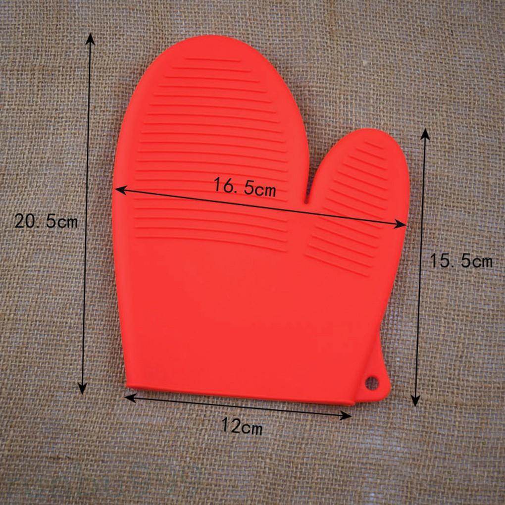 [Runbu] 廚房隔熱手套矽膠厚耐熱烤箱防水微波爐矽膠防滑手套