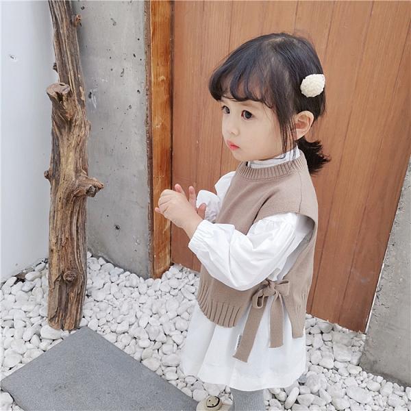 女童針織馬甲外穿兒童寶寶外套背心洋氣春秋嬰兒【聚可愛】