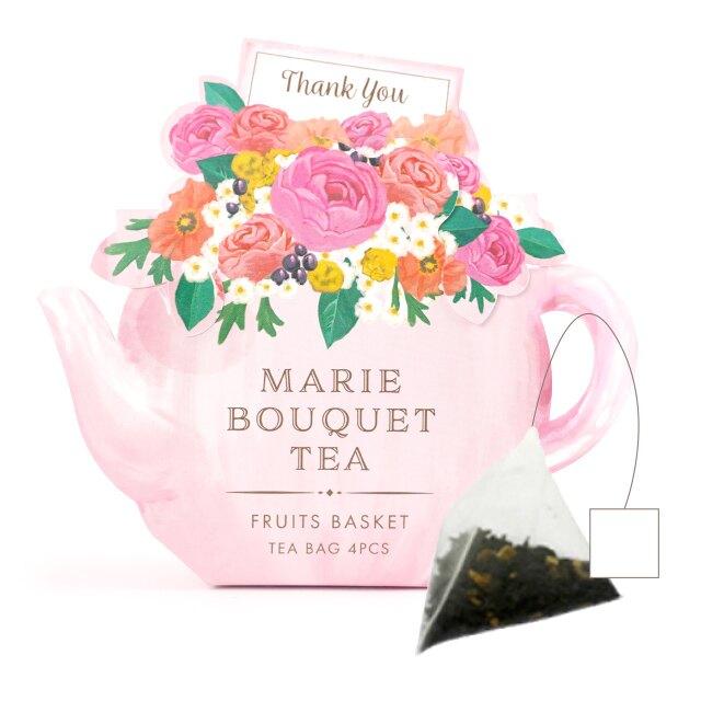 日本Marie Bouquet Tea 『瑪莉午茶』(水果花籃茶、浪漫玫瑰茶)