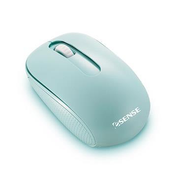 Esense逸盛 極靜音無線滑鼠-綠(12-EOM330GN)