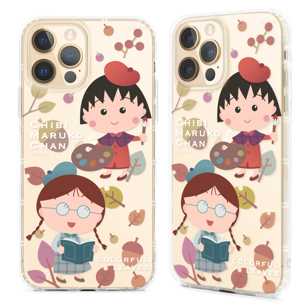 OMG買瘋樂 | 櫻桃小丸子 iPhone12/Mini/Pro/ProMax 保護軟殼 畫家與朋友 開心上學日