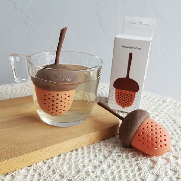 泡茶球創意可愛鬆果造型濾茶器硅膠茶葉過濾器可漂浮泡茶器茶漏球 【618 大促】